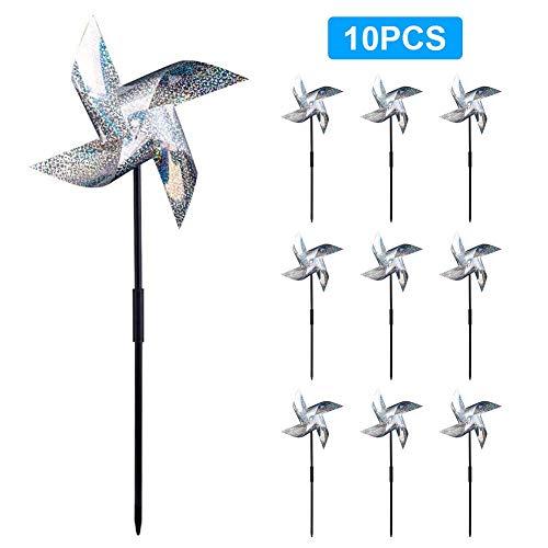 Lvhan Reflektierende Windräder Vogelschutzmittel zur Abschreckung von Vögeln und Schädlingen 10PCS