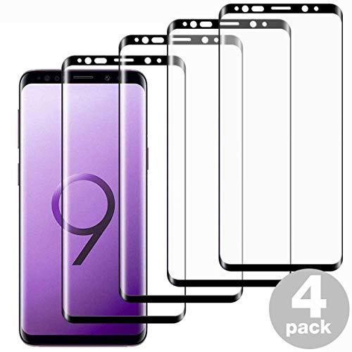 [4er-Pack] Galaxy S9 Displayschutzfolie, [Anti-Fingerprint[3D Full Coverage] gehärtetes Glas Displayschutzfolie S9 Ultra Thin HD Anti-Kratzer Panzerfolie für Galaxy S9 (5,8 Zoll)