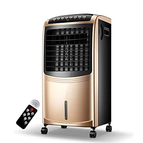 XIAOYAN Climatización Aire Acondicionado de refrigeración/calefacción, refrigerador de Aire doméstico portátil, bajo Ruido 80W 6.5L Tanque de Agua Champagne Gold