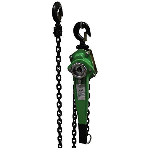 TrutzHolm® 0,75t 1,5t 3t 6t 3m Kettenlänge Ratschenzug Kettenzug Hebezug Hebelzug Flaschenzug verschiedene Modelle (1500 kg)