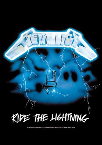 empireposter Metallica - Ride The Lightning Musik Posterflaggen Fahne - Grösse 75x110 cm