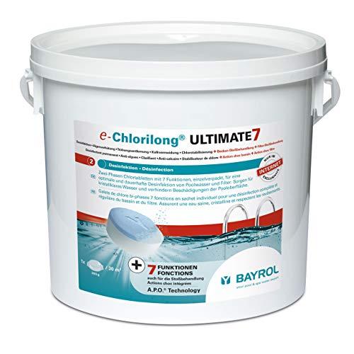 Bayrol e-Chlorilong Ultimate 7 7 Funktionen Chlortabletten à 300g, Weiss, 4,8 kg