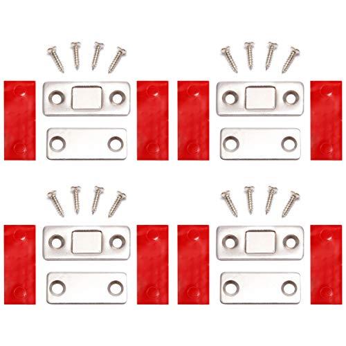 4 x Super Stark Edelstahl Magnetschnäpper Magnet Möbelmagnet Türmagnete Türverschluß Haltemagnet Magnetverschluss