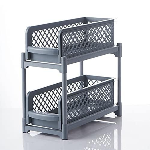 Küchentisch Doppelschichtige Rack, PullOutMultiLayerVeredelungsRack, SchubladenspeicherRack