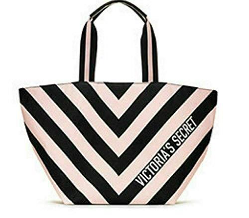 Victoria's Secret Tragetasche Pink Schwarz gestreift Duffle Pink