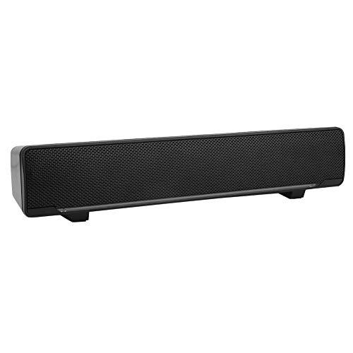 ASHATA Barra de Sonido, Altavoz USB Sonido Estéreo 3D Bajo Sonido Envolvente Portátil, Luz de Respiración LED Azul con Conector de Audio de 3.5 mm Reproductor para PC Phone TV,etc