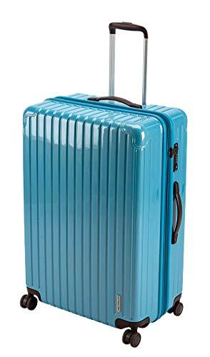 キャプテンスタッグ(CAPTAIN STAG) スーツケース キャリーケース キャリーバッグ 超軽量 TSAロック ダブルホイール 360度回転 静音 ダブルファスナータイプ Lサイズ ファインブルー パルティール UV-70