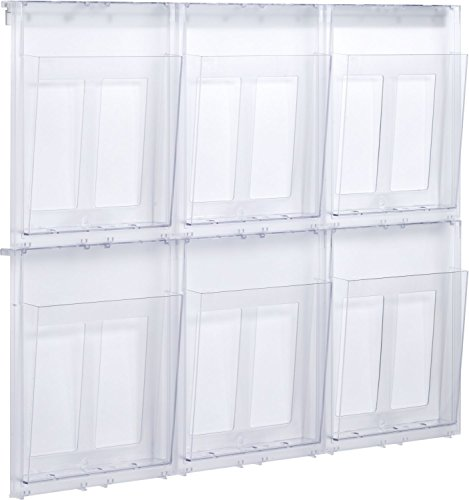 Helit - Porta brochure da parete A4 6 x Din A4 Trasparente