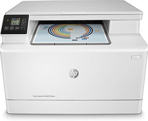 HP Color LaserJet Pro M182n, Stampante multifunzione, solo LAN o USB, Bianca
