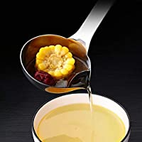 LeXiangLANGood ロングハンドルステンレス鋼スープスプーンスプーン脂肪セパレーターザルキッチン調理ツール