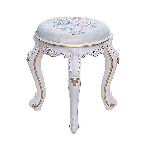 ZHIQ Sgabello per Tavolo da Trucco Sgabello Imbottito per Il Trucco da Salotto Sedia da Trucco per Camera da Letto - 33.2x33.2x43cm
