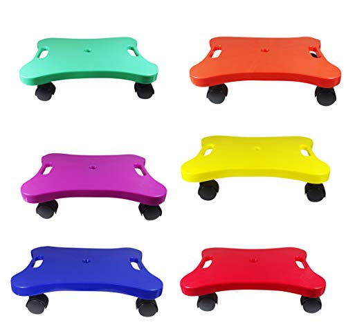"""Educational Manual Plastic Scooter Board with Safety Handles 
