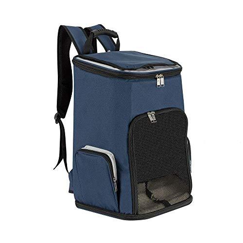 Lukovee Hunde Rucksäcke, Hundetransport Rucksack haustiertragetasche für Hunde Katzen Hunderucksäcke Haustiertrage Rucksack zum Wandern Faltbare Haustiertasche mit Seitentaschen für den Außenbereich