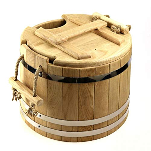 Sauna Bucket, Wooden Spa Bucket for Whisks Soaking and Aroma Infusion