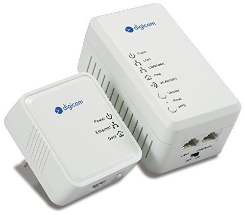 Digicom 8E4561 KIT Powerline AV500 Mbps Wireless N 300Mbps con 2 porte Ethernet + powerline mini 500 Mbps