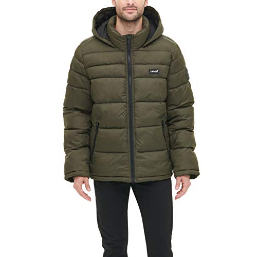 Levi's Men's Washed Cotton Two Pocket Military Jacket (Standard and Big & Tall), Olive, XX-Large