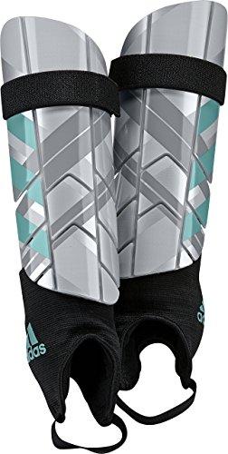 Adidas Performance Ghost Reflex - Espinilleras para Mujer, Color Plateado metálico, Transparente y Azul energético, Talla XS