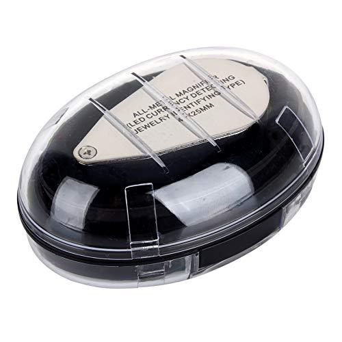 Lupa Plegable, Lupa LED Lupa Plegable, Vidrio óptico acrílico 40X Metal para Fines industriales de Ciencia médica