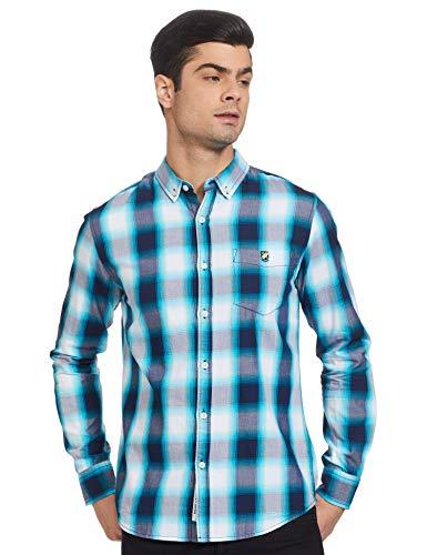 Amazon Brand – House & Shields Men's Checkered Regular Casual Shirt (SS20-H&SCSRE-02M)