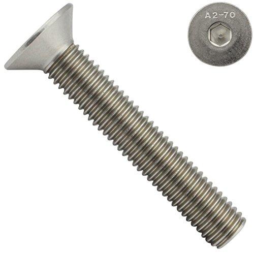 Senkkopfschrauben mit Innensechskant (ISK) - M4x12 - (10 Stück) - DIN 7991 / ISO 10642 - Vollgewinde - Senkschrauben - Werkstoff: Edelstahl A2 V2A - SC7991 | SC-Normteile®