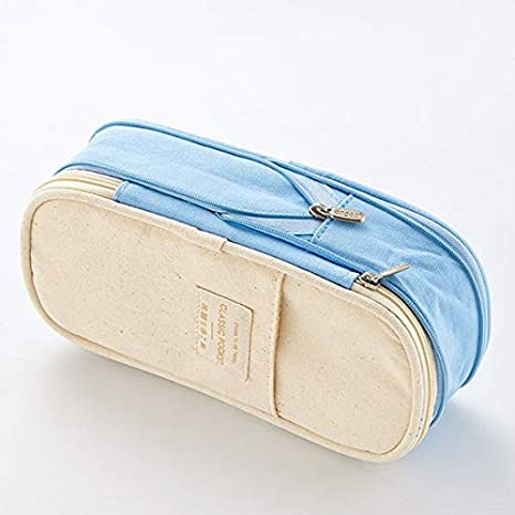 Details about  /Pencil Case Large Capacity Cute Double Coded Lock Multi Layer Storage Organizer