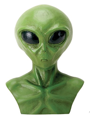 YTC Summit International Green Outer Space Alien Head Bust Statue Figurine Display Extraterrestrial New