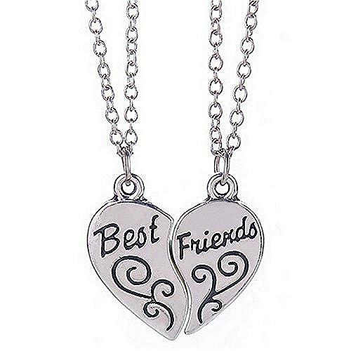 Kaxofang Regalos de Mejores Amigos, Collar BBF Best Friends Forever Regalo de Amor Amistad Collares Pendientes del Corazón para Las Mujeres (Best Friends)
