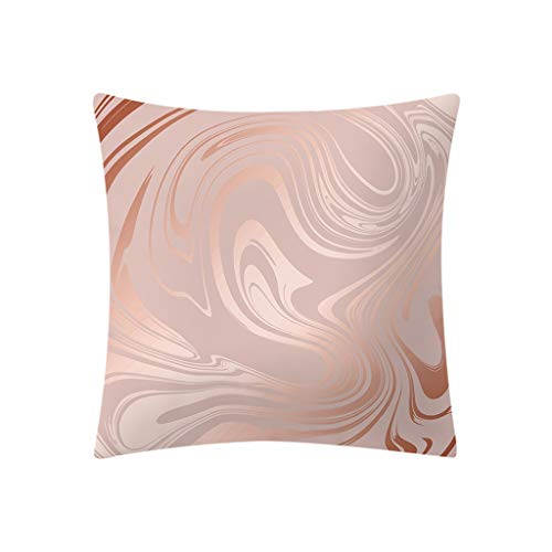 Jiegreat Rose Gold Pink Cushion Cover Square Pillowcase Home Decoratio