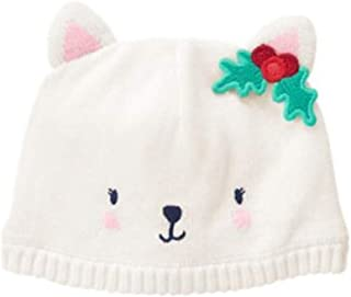 Gymboree Infant White Snow Kitty Beanie (6-12 Months)