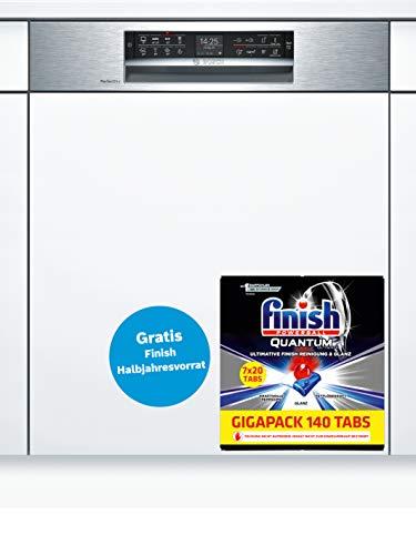 Bosch Serie 6 SMI68TS06E lavavajilla Totalmente integrado 14 cubiertos A+++ - Lavavajillas (Totalmente integrado, Tamaño completo (60 cm), White,Not applicable, Acero inoxidable, Botones, TFT)