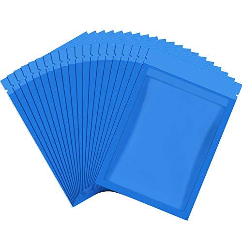 100 Stücke Wiederverschließbare Geruchssichere Tasche Folien Tasche Flachbeutel Reißverschluss Tasche für Party Gefallen Aufbewahrung (Blau, 3 x 4 Zoll)