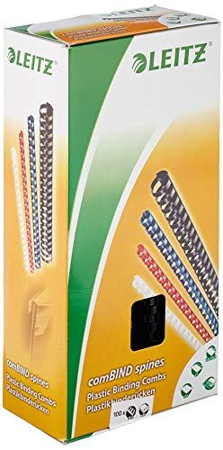 Leitz 35043 Plastikbinderücken, A4, Kunststoff, 12 mm, 95 Blatt, 100 Stück, schwarz