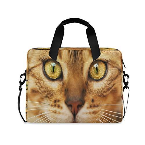 JNlover Laptoptasche mit Tier-Katzen-Muster, 40,6 cm (16 Zoll), tragbare Hülle, Aktentasche, Laptoptasche, Notebook-Computer, Tragetasche für Damen und Herren
