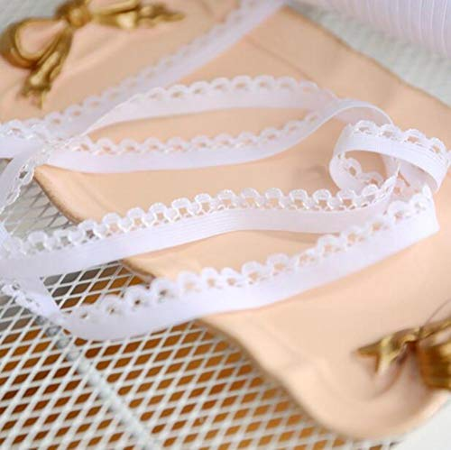 9 meter elastisch kantlint polyester stretch wit kant trimmen ondergoed naaien wikkelen singelbandaccessoires 12 mm