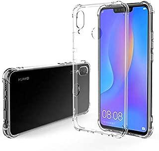 Jaorty Case Compatible for Huawei Nova 3i Case,Crystal Clear Reinforced Corners TPU Bumper Cushion Anti-Scratch Hybrid Rugged Transparent Back Cover Case for Huawei Nova 3i/P Smart Plus,Clear
