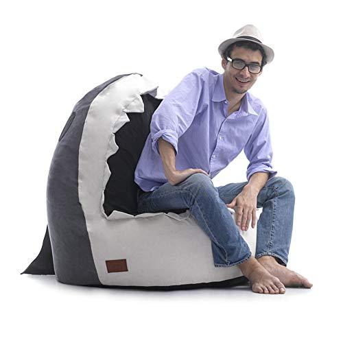 Yarmy Hai Sitzsack mit Lehne, In & Outdoor,Bean Bag, Sitzsäcke Sessel Kissen Sofa Hocker Sitzkissen,Faules Sofa,Lazy Lounger Chair für Erwachsene und Kinder Grau