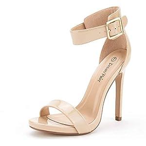 DREAM PAIRS Women's Ankle Strap Pumps Heel Sandals