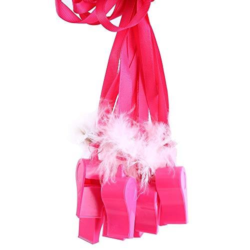AILOVA Decoración de fiesta, 10 unidades/lote novedad rosa fuerte fiesta juego de despedida de soltera esponjoso silbatos niñas noche fuera juego de despedida de soltera regalos