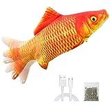Malier Electric Fish Cat Toys, Realistic Plush...