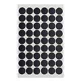 Yardwe 54 uds/hoja de PVC Tapones Tapones para válvulas Agujero Autoadhesivo Agujero de tornillo para muebles de oficina casa – Brillante negro