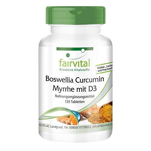 Weihrauch Curcuma Myrrhe & Vitamin D3 - HOCHDOSIERT - 120 Tabletten