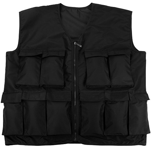 Crown Sporting Goods 7 kg (15 lbs) Endurance Weighted Vest - Adjustable Weight Jacket for Resistance Training with 15 Additional 1 lb. Weights