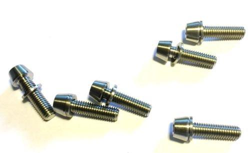 CarbonEnmy 6 tornillos de titanio, M5 x 18 mm, cónicos, DIN