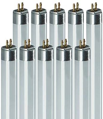 F16T4 16W 18.75 Inch T4 Fluorescent Light Bulb   4100K Cool White Mini Bipin Base   1040 Lumens 80 CRI 10000 Life Hours   Instant/Programmed Start   10 Pack by GoodBulb