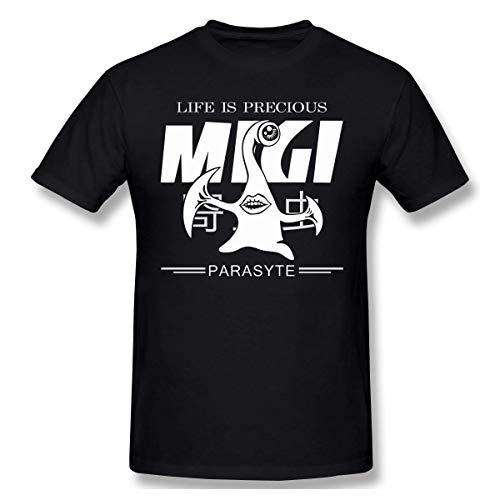 GuANvgITS Herren's Parasyte Migi Life is Precious Printing T-Shirt Muster gedruckt T-Shirt Schwarz XX-Large