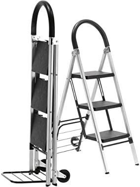LadderKart Professional-Grade Step Ladder/Hand Cart