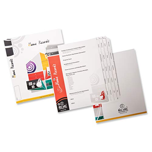 Ahh Hah! Organizer Kit: Home Records - Index Tabs for a Three-ring Binder (Binder not included))