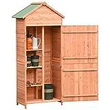 Nishore Casetta Box Porta Attrezzi in Legno da Giardino Ripostiglio da Esterno