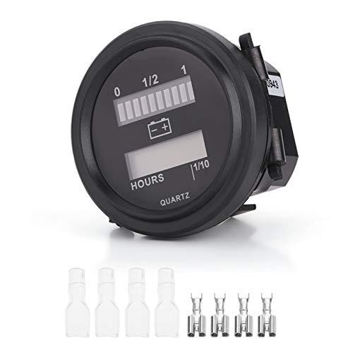 Medidor de batería digital, con flash LED para advertencia de carga, pantalla LCD de 6 dígitos y 7 segmentos, adecuado para batería de 12 V / 24 V, 36 V, 48 V / 72 V