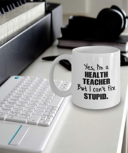 Thomas655 gezondheid leraar cadeau gezondheid leraar mok gezondheid leraar koffie mok Ja, ik ben een gezondheidsleerkracht, maar ik kan niet dum oplossen